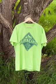 T-shirt: Beaver Canoe (Lime)
