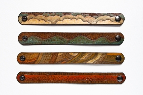 Leather Bracelets: Air, Water, Earth, and Fire