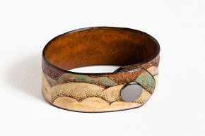 Leather Bracelet: Air