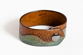 Leather Bracelet: Water