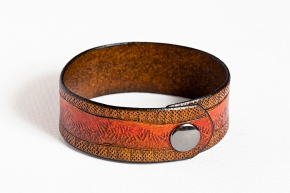 Leather Bracelet: Fire