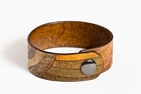 Leather Bracelet: Earth