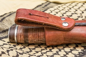 Leather Handled Knife Belt Loop Detail