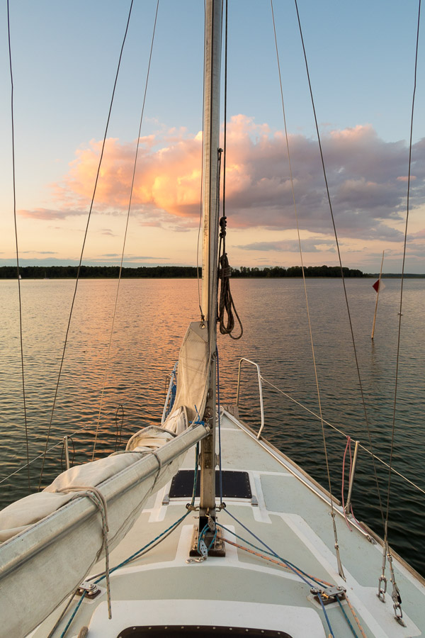 Sunset Sailing, Lake Sniardwy, Poland