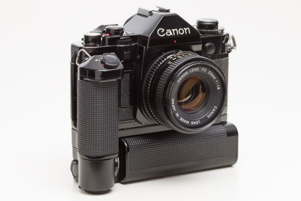 Canon A1 Camera w/ MA Motor Drive and Canon FD 50mm 1:1.8 Lens