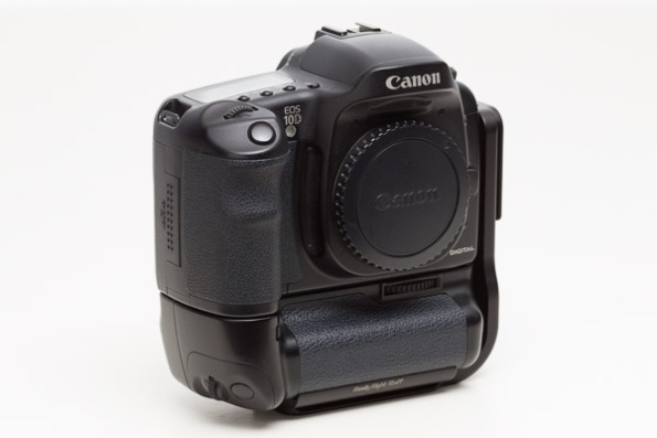 Canon EOS 10D Camera w/ BG-ED3 Vertical Grip and RRS L-Bracket
