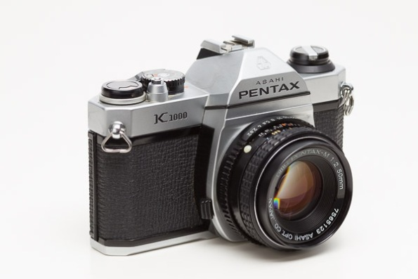 Pentax K1000 Camera w/ SMC Pentax-M 1:2 50mm Lens