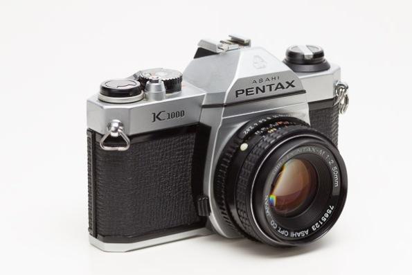 Pentax K1000 Camera w/ SMC Pentax-M 1:2 50mm Lens