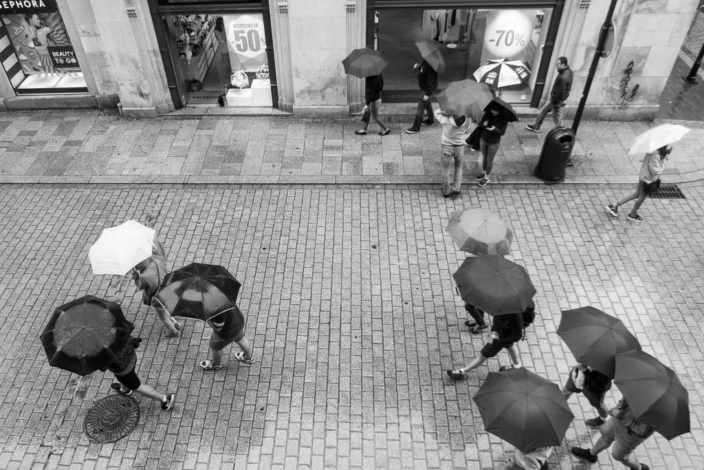 Umbrellas, Ulica Florianska, Krakow, Poland