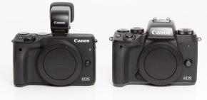 Canon EOS M3 w/ EVF vs. Canon EOS M5 (Front)