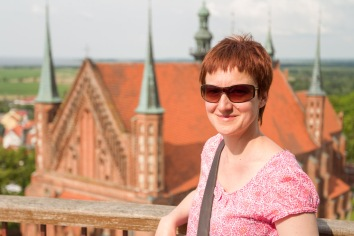 Gosia Standing on the Bell Tower, Frombork, Poland