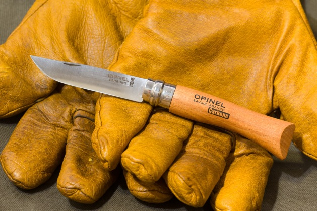 Work Gloves and Folding Knife