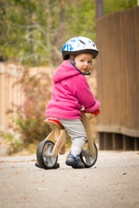 Hanna Riding Her Balance Bike