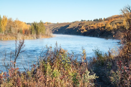 Bow River Bend Autumn Morning