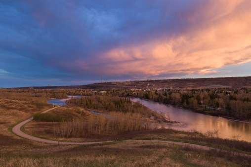 Bowmont Park and Bow River Sunset