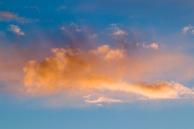 Orange Cloud, Blue Sky